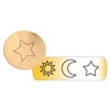 Metal Stamp Fancy Design 6mm Astronomy (3pcs)